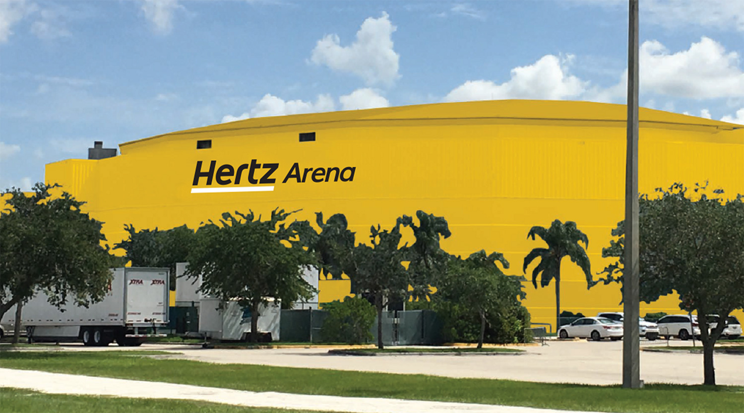 'Make this building new again': Hoffmann already replaces Hertz Arena sign, rips up luxury suites